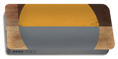 Cirkel Yellow And Grey- Art By Linda Woods Portable Battery Charger