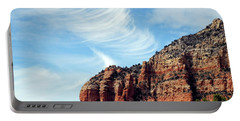 Portable Battery Charger featuring the photograph Cirrus Clouds Over The Mesa by Lynda Lehmann