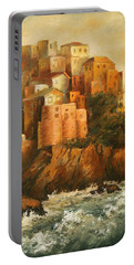 Cinque Terre Lerici Italia Painting Portable Battery Charger
