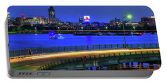 Portable Battery Charger featuring the photograph Citgo Sign Across The Charles River - Boston by Joann Vitali