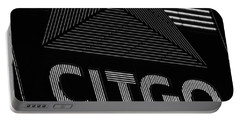 Citgo Sign Closeup Boston Ma Black And White Portable Battery Charger