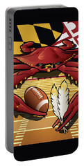 Citizen Crab Redskin, Maryland Crab Celebrating Washington Redskins Football Portable Battery Charger