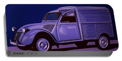 Citroen 2cv Azu 1957 Painting Portable Battery Charger