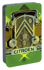 Portable Battery Charger featuring the digital art Citroen Traction Avant  by Jean luc Comperat