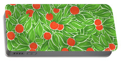 Citrus Pattern Portable Battery Charger