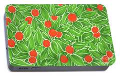 Portable Battery Charger featuring the drawing Citrus Pattern by Cindy Garber Iverson