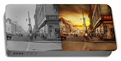 Portable Battery Charger featuring the photograph City - Amsterdam Ny - The Lost City 1941 - Side By Side by Mike Savad