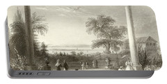 City And Lake Of Constance From The Chateau Wolfsberg Portable Battery Charger