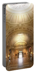 Portable Battery Charger featuring the photograph City - Annapolis Md - Bancroft Hall by Mike Savad