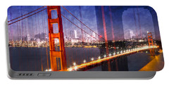Portable Battery Charger featuring the photograph City Art Golden Gate Bridge Composing by Melanie Viola