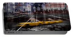Portable Battery Charger featuring the photograph City-art Nyc Composing by Melanie Viola