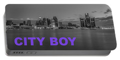 City Boy Purple Portable Battery Charger