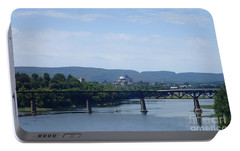 Portable Battery Charger featuring the photograph City Bridges by Christina Verdgeline