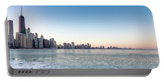 City By The Frozen Lake Portable Battery Charger