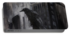 City Dweller Raven Dark Gothic Crow Wall Art Portable Battery Charger