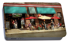 Portable Battery Charger featuring the photograph City - Edison Nj - Pino's Basket Shop by Mike Savad