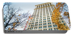 Portable Battery Charger featuring the photograph City Federal Building In Autumn - Birmingham, Alabama by Shelby Young