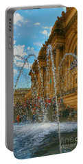 Portable Battery Charger featuring the photograph City Fountain  by Raymond Earley