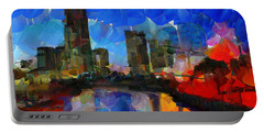 City Living - Tokyo - Skyline Portable Battery Charger by Sir Josef - Social Critic - ART