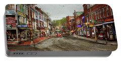Portable Battery Charger featuring the photograph City - Ma Glouster - A Little Bit Of Everything 1910 by Mike Savad