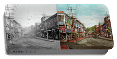 Portable Battery Charger featuring the photograph City - Ma Glouster - A Little Bit Of Everything 1910 - Side By Side by Mike Savad