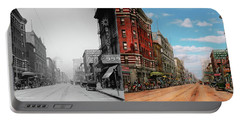 City - Memphis Tn - Main Street Mall 1909 - Side By Side Portable Battery Charger by Mike Savad