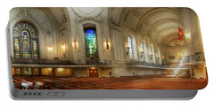 Portable Battery Charger featuring the photograph City - Naval Academy - God Is My Leader by Mike Savad