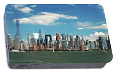 Portable Battery Charger featuring the photograph City - New York Ny - The New York Skyline by Mike Savad