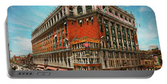 Portable Battery Charger featuring the photograph City - Ny New York - The Nation's Largest Dept Store 1908 by Mike Savad