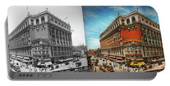 Portable Battery Charger featuring the photograph City - Ny New York - The Nation's Largest Dept Store 1908 - Side by Mike Savad