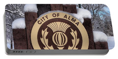 City Of Alma Michigan Snow Portable Battery Charger