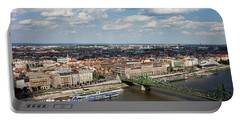 City Of Budapest Cityscape Aerial View Portable Battery Charger