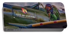 Portable Battery Charger featuring the photograph City Of Exeter Spitfire by Chris Lord