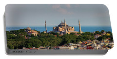 City Of Istanbul Cityscape With Hagia Sophia Portable Battery Charger
