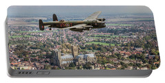 Portable Battery Charger featuring the photograph City Of Lincoln Vn-t Over The City Of Lincoln by Gary Eason