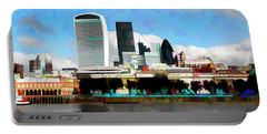 City Of London Portable Battery Charger by Roger Lighterness