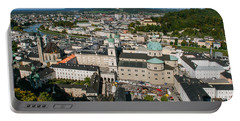 Portable Battery Charger featuring the photograph City Of Salzburg by Silvia Bruno