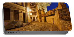 City Of Torun At Night Portable Battery Charger