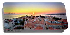 City Of Zadar Skyline Sunset View Portable Battery Charger