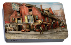 Portable Battery Charger featuring the photograph City - Pa - Fish And Provisions 1898 by Mike Savad