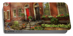 Portable Battery Charger featuring the photograph City - Pa Philadelphia - Pretty Philadelphia by Mike Savad
