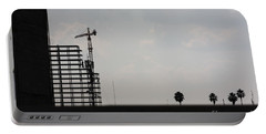Portable Battery Charger featuring the photograph City Silhouette #2 by Brian Boyle