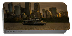 City Skyline  Portable Battery Charger by Andrew Matwijec