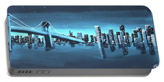 City Skyline Portable Battery Charger by Cyrionna The Cyerial Artist