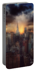 Portable Battery Charger featuring the photograph City Splendor - Sunset In New York by Miriam Danar