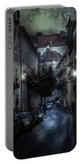 City Street With Prayer Portable Battery Charger