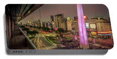 City Sunset Portable Battery Charger by Andrew Matwijec