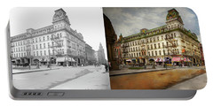 Portable Battery Charger featuring the photograph City - Toledo Oh - Got A Boody Call 1910 - Side By Side by Mike Savad