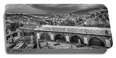 Cityscape Of Florence And Cemetery Portable Battery Charger by Sonny Marcyan