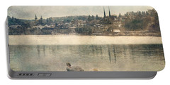 Cityscape Of Lucerna Portable Battery Charger by Vittorio Chiampan